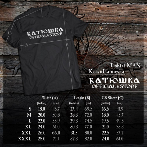 "T SHIRT BATUSHKA ""SHADOWS"" BLACK"